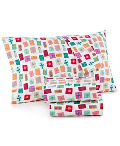 MARTHA STEWART Whim Collection 100% Cotton Flannel Sheet Set (Queen