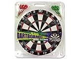 Dartboard with 6 Darts, Black/White/Green/Red