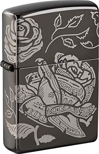 Zippo Currency Laser 360 Design Black Ice Design Pocket Lighter product image