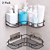 YUNKE Shower Organizer Storage, Bathroom Shelves, Shower Caddy with Rustproof Stainless Steel Adhesive Sticker for Kitchen & Bathroom Accessories Adhesive Sticker Included