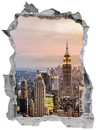 New York City Skyline Wandtattoo Wandsticker Wandaufkleber E0299 Größe 67 cm x 90 cm
