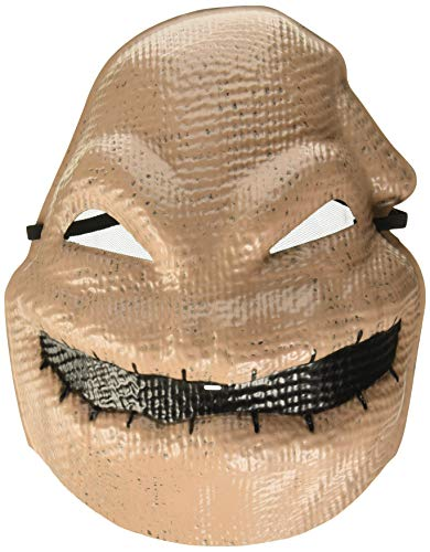 Disguise Half Mask, Brown, Adult Size