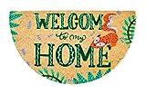 Felpudo de Coco Natural semicircular, felpudos Entrada casa, Alfombra Limpia Zapatos, Felpudo Exterior, Alfombra Entrada casa Interior, felpudos Originales y Divertidos, 40x70 (Welcome to my Home)