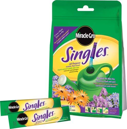 Miracle-Gro Singles 20 bolsitas solubles alimento para Plantas