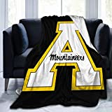 Appalachian State Mountaineers University Blanket,Ultra Soft Micro All Season Anti-Pilling Flannel Blanket Bed Couch Living Room 80'X60'