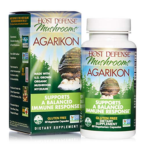 Host Defense, Agarikon Capsules, Full Spectrum of Constituents, Mushroom Supplement, Vegan, Organic, 60 Capsules (60 Servings)