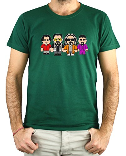 PLANETACAMISETA Camiseta Hombre - Unisex El Gran Lebowski (Verde Botella, XXXL)