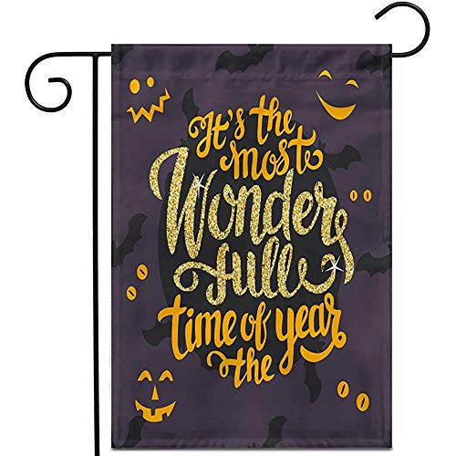 Garden Flag Es Ist Die Schönste Zeit des Jahres Happy Halloween Outdoor Home Decor Rasen Doppelseitige Yard Flags Banner Patio Garten Flagge 32X48Cm