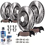 Detroit Axle - 293mm Front & 286 Rear Disc Brake Rotors Ceramic Pads for 2009-2014 Subaru Impreza WRX - [2009-2013 Subaru Forester] - 2010-2014 Subaru Legacy 2.5i / Outback H4 2.5L - See Fitment