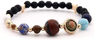 MISS RIGHT Lava Beaded Stone Rock Anxiety Aromatherapy Bracelet, Amethyst Opal Chakra Gemstone Solar System Essential Oil Diffuser Bracelet for Women Men