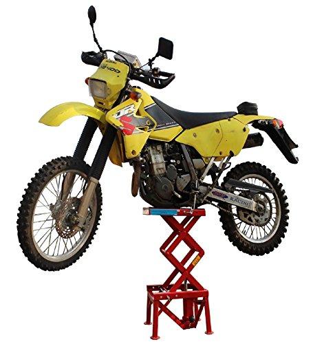 TrutzHolm® Motorradheber 135 kg Motorrad Hebebühne 340-870 mm Montageständer Montagebock Motorradlift Enduro MX Hebebühne