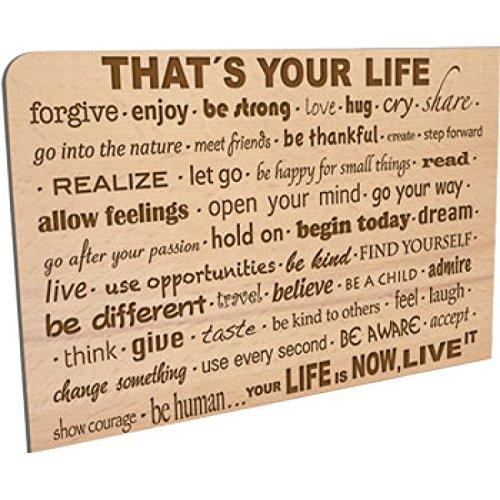 Ansichtkaart van hout - Life