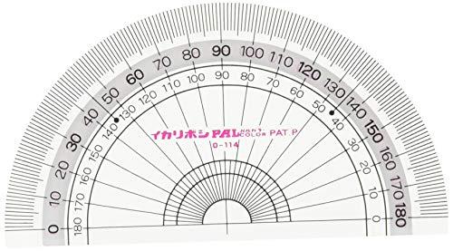 西敬 パルCOLOR_NAMEネオ 分度器 9cm 5枚セット PP-N95