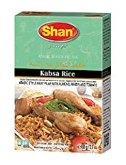 Quantity- Shan Arabic Kabsa Rice comes packaged and sealed in a box containing a packet of 2.12oz of spices Easy to use- All the ingredients and instructions are given at the back of the box. Easy to prepare- Now you don't need to gather a variety of...