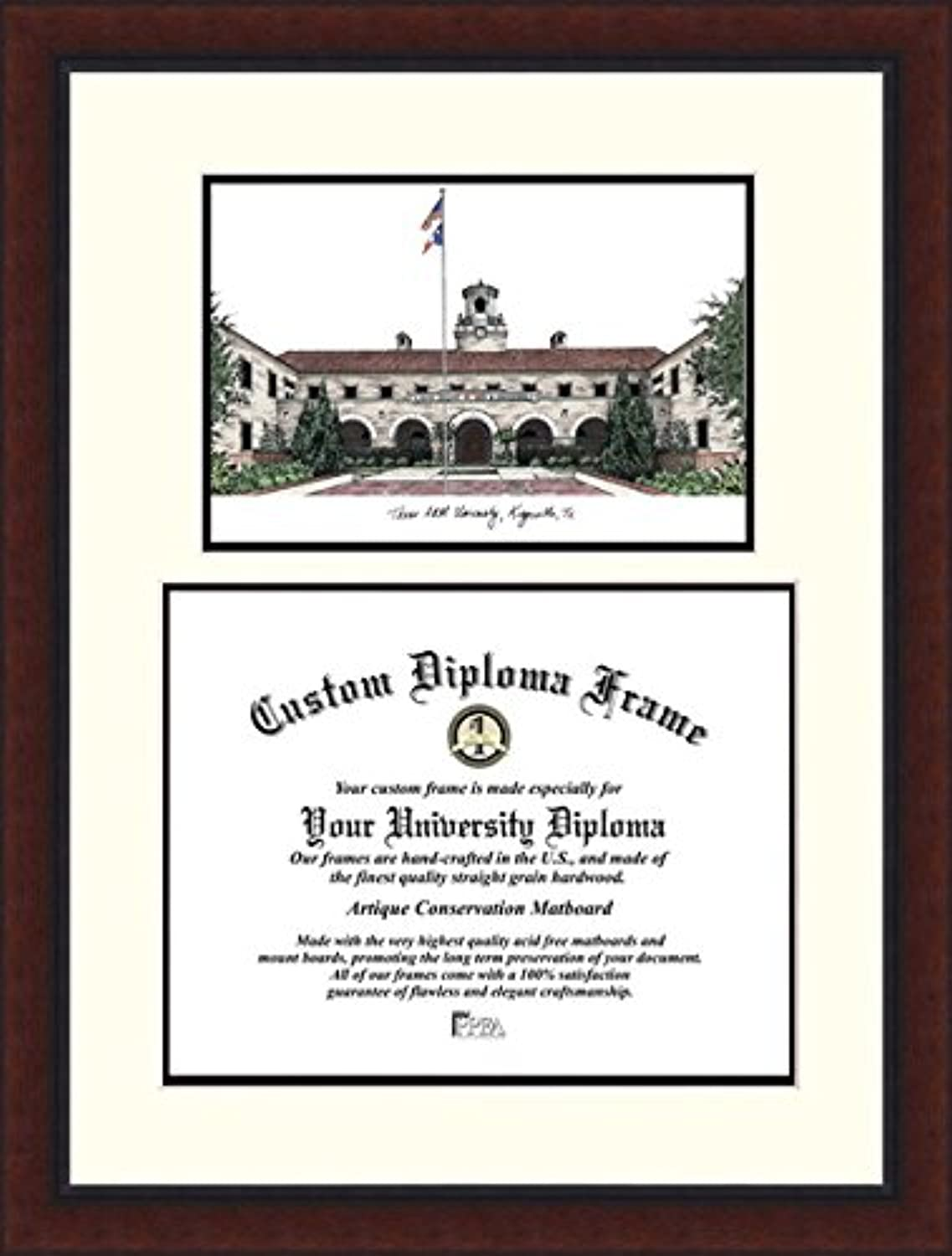 Campus Images TX982LV Texas A&M Kingsville University Legacy Scholar Diploma Frame, 11  x 14