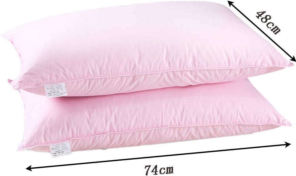 JXXDDQ Oreiller en Duvet Paire d'oreillers en Coton 100% Oreiller en Coton Oreiller de Oreiller Cervical de Haute qualité 48cmX74cm (Color : Blue) Pink