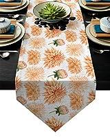 テーブルランナー ダイニングテーブルクロスガーデンオレンジフラワーフラワー菊のテーブルランナーモダンなテーブルランナーの結婚式のパーティーの装飾 テーブルクロス (Size : 41x183cm)