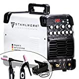 <span class='highlight'><span class='highlight'>STAHLWERK</span></span> AC/DC TIG 200 Pulse ST, welding machine with 200 amp TIG & MMA, many welding parameters adjustable, ALU & thin sheet suitable, 7 years warranty