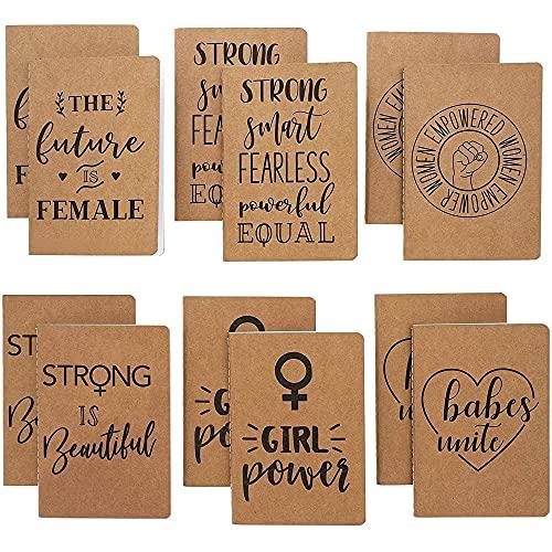 Feminist Kraft - Cuadernos de bolsillo (4 x 5.7 pulgadas, 12 unidades)