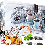 Teebeutel Adventskalender mit 4x24 Pyramiden-Teebeuteln 'Family Pack' 2019 von Two Leaves and a Bud mit Tees und Teemischungen | Loser Tee im Pyramidenbeutel | Weihnachts-Kalender | Geschenkset