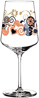 XSYQSNX Crystal Glass Red Wine Glass, Hand-Painted Goblet for Christmas Parties, Restaurants, Ladies' Gifts, Art Symphony