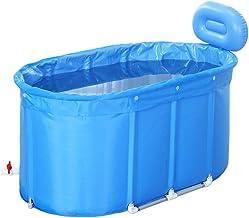 ZH1 Piscinas hinchables Baños de inmersión Bañera Plegable Acolchada Aislamiento de Doble Capa Bañera Grande para Adultos Instalación portátil (Tamaño : 110x60x60cm)