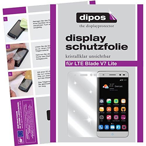 dipos I 2X Schutzfolie klar kompatibel mit ZTE Blade V7 Lite Folie Bildschirmschutzfolie