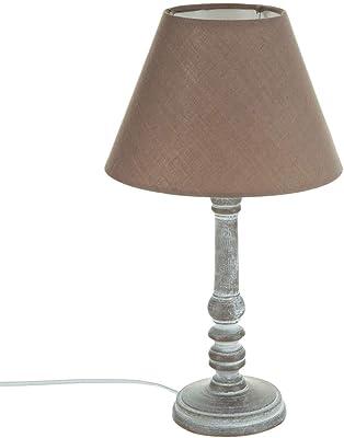 Atmosphere 86-CRLF-QA61 - Lámpara de mesa estilo romántico , 20 x 35 cm, Color Topo