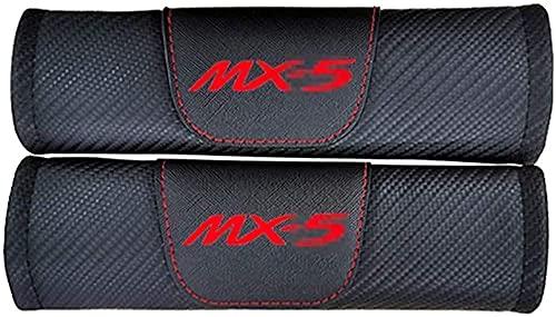 2 piezas de almohadillas para el hombro de la cubierta del cinturón de seguridad, para Mazda Mx5, hombreras de fibra de carbono que protegen los accesorios interiores del coche