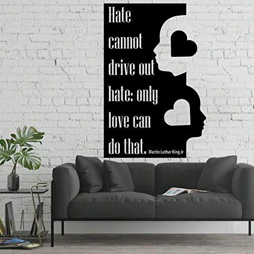 Tianpengyuanshuai leven muurtattoos alleen die liefde kan vinyl raamsticker voor woonkamer slaapkamer wooncultuur inspireren