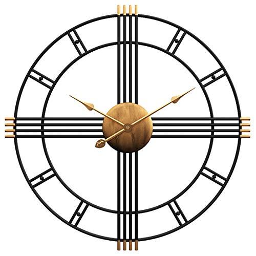 Searchyou - 50CM Grandes Relojes de Pared Vintage, Silencioso No Tick Tack Decoración de la Salón Dormitorio