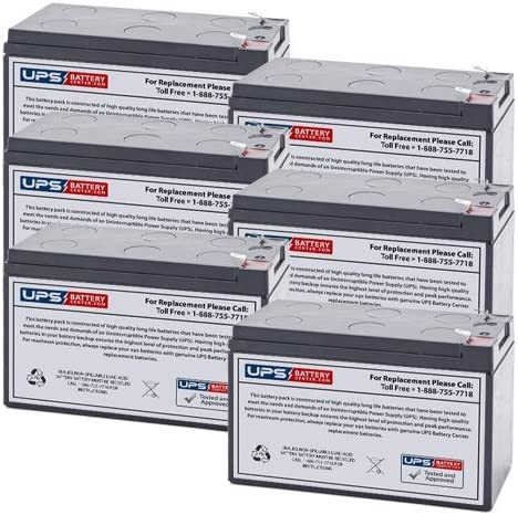6 12V 9Ah F2 Compatible Battery Set Toshiba Phoenix Mall UT1E1E020C6 by for Cheap sale