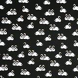 Fabulous Fabrics Mono Ballett Schwäne GOTS – schwarz|