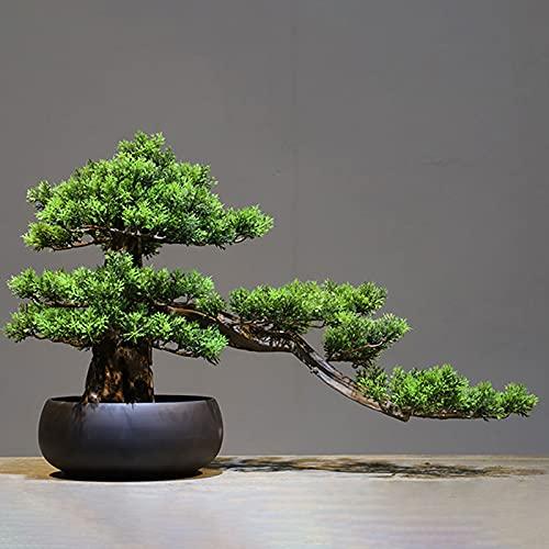 zxb-shop ARBO Artificial Artificial Bonse Tree Bonsai Jarrón Jarrón Artificial Bonsai Fake Tree Bonsai Decoration Home Office Tienda No Hay Necesidad de Agua Planta Artificial
