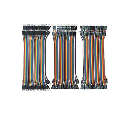 ブレッドボード・ジャンパーワイヤー 40*6ピン 10cm Emith デュポンケーブル Arduino Raspberry piに適用 ジャンパー線 6本セット