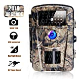Cenzo Wildkamera mit Bewegungsmelder Infrarot Kamera 12MP 1080P Nachtsicht wasserdichte Überwachungskamera Jagdkamera mit 0.6 Sekunden Auslösezeit Beutekameras (HC4F)