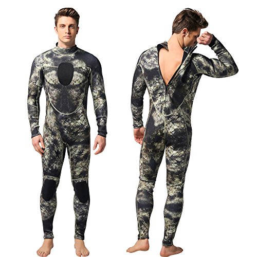 Nataly Osmann Mens 3mm /1.5mm Wetsuits Camo Neoprene Full Body Diving Suits One Piece Spearfishing Suit (camo01-3mm, XXL)