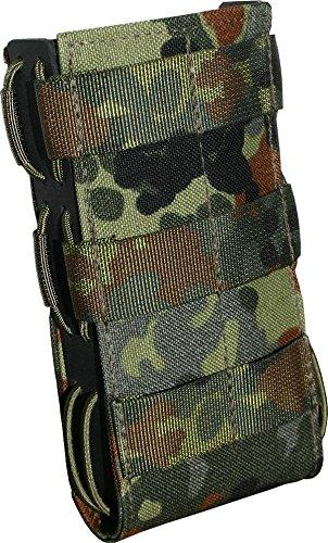 Zentauron Molle Magazin Schnellziehtasche G36 8,5 x 15 x 3,5 I Schnellziehtasche für Magazin aus hochwertigem Cordura® & Kydex® I Strapazierfähige Militär-Tasche I Tasche in Flecktarn