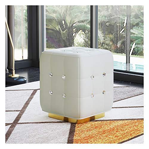 Sgabello per divano e poggiapiedi quadrato, per cambiare scarpe, in pelle, per soggiorno, scarpiera e porta di casa (colore #5)