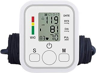 Tensiómetros De Brazo Digital, Eléctrico De Presión Arterial Medición De La Presión Arterial Y Pulso De Frecuencia Cardíaca Detección,2 Usuarios (2 * 99) Y Pantalla LCD Grande
