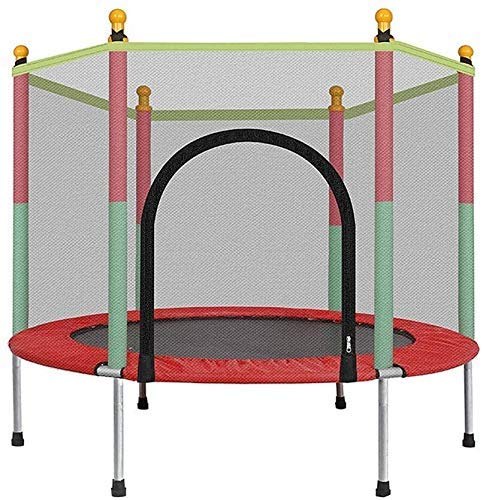 LuoMei Kids Trampoline with Enclosure Net Jumping Mat and Spring Cover Padding Outdoor Indoor Yard Trampolines for Children