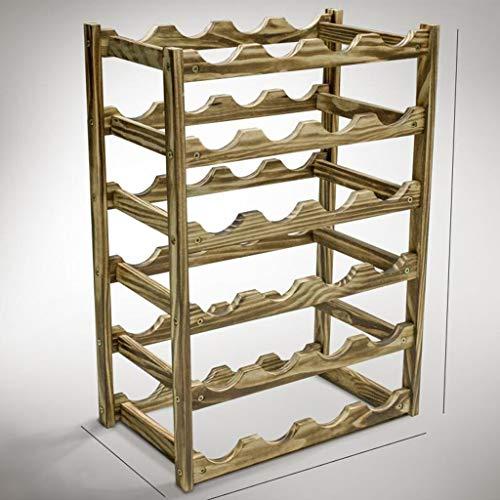 Massivholz weinregal Multi-Standard/arbeitsplatte Display Flasche Rack Handwerk/Kiefer weinregal Halterung (Size : 45.5×25.5×62cm)