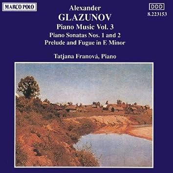 GLAZUNOV: Piano Music, Vol.  3