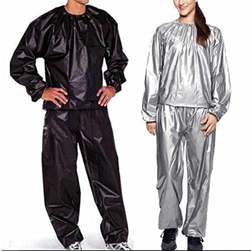 KZY Unisex-Schwitzanzug/Sauna-Anzug zum Abnehmen von Gewicht, Reisst nicht, Workout-/Trainingskleidung 3XL Schwarz
