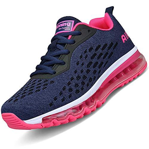 Mabove Laufschuhe Herren Damen Turnschuhe Sportschuhe Straßenlaufschuhe Sneaker Atmungsaktiv Trainer für Running Fitness Gym Outdoor(Pink.R/HK78,38 EU)