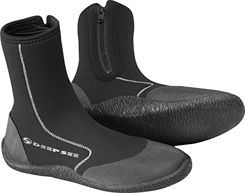 Deep See Atlantic 6.5mm Dive Boot, Black, Size 11