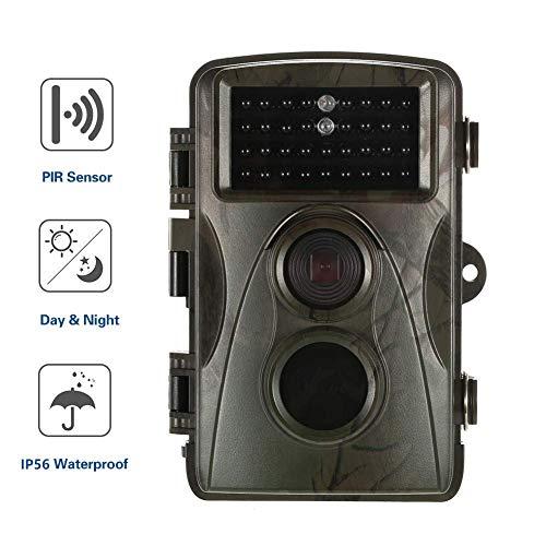 B&H-ERX Wildlife Trail Camera, IP66 Waterdicht 12MP 1080P HD Night Vision 65FT Trap Hunting Camera, 2.4
