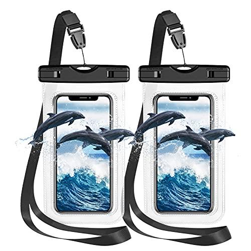 Pochette Etanche Smartphone Housse Étanche Smartphone[ Lot de 2],Certifiée par IPX8 Pochette Téléphone Étanche pour Téléphone iPhone 12 Pro Max/11 Pro/XS Max/XR/7/8, Galaxy S21/S20,Jusqu'à 7.0 Pouces