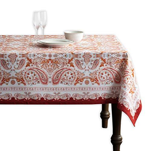 Maison d' Hermine Orient 100% Baumwolle Tischdecke für Küche | Abendessen | Tischplatte | Dekoration Parteien | Hochzeiten | Thanksgiving/Weihnachten (Rechteck, 140 cm x 180 cm)