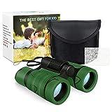 Dreamingbox Draussen Spielzeug Junge 1-10 Jahre, Kompakt Fernglas für Kinder Spielzeug Mädchen 1-10 Jahre Camping Spielzeug für Kinder Mädchen Jungen 3-12 Jahre Armee grün